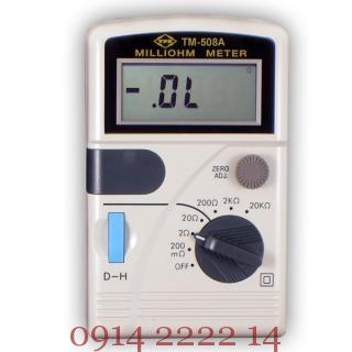 May dong ho do dien tro thap Tenmars TM 50%C3%A2 Máy đo điện trở thấp Tenmars TM 508A