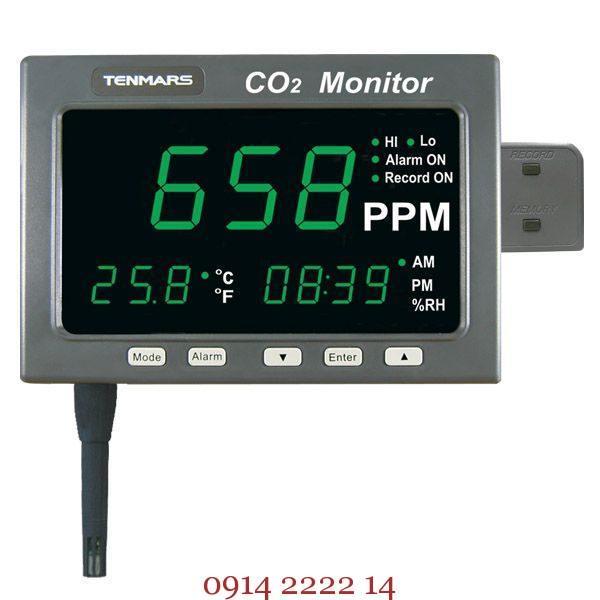 Đồng hồ đo khí CO2 Tenmars TM-186D