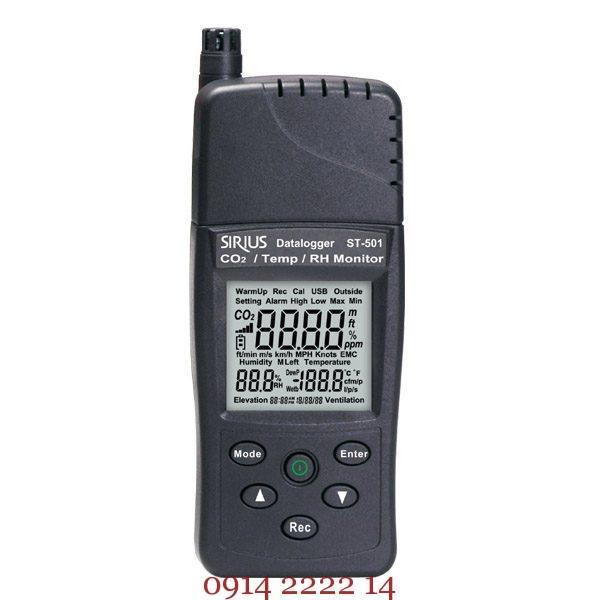 Máy đo nhiệt độ độ ẩm và khí CO2 Tenmars ST-501