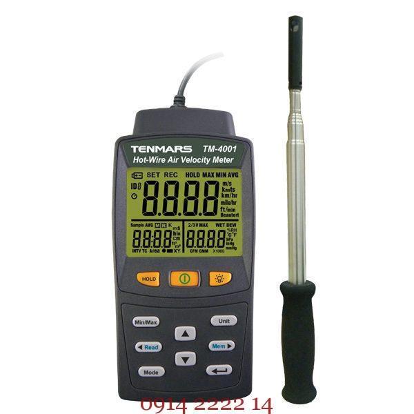 Máy đo tốc độ gió Tenmars TM-4001 (Tích hợp nhiệt độ – độ ẩm)