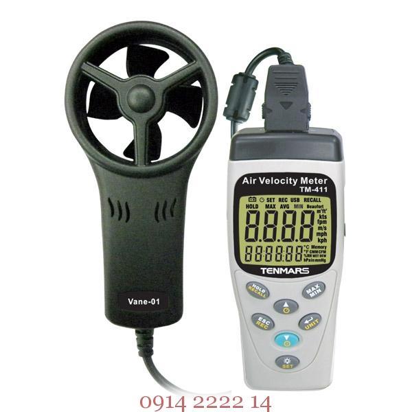 Đo gió, nhiệt độ, độ ẩm, áp suất Tenmars TM-414