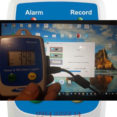 cách sử dụng nhiệt kế tự ghi dữ liệu Tenmars TM-305U