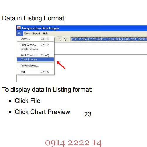 Dữ liệu tự ghi hiển thị dạng danh sách