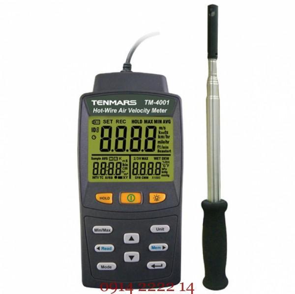 Máy đo tốc độ gió HVAC Tenmars TM-4002