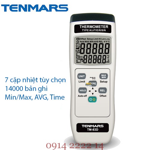 Nhiệt kế tự ghi Tenmars TM-83D