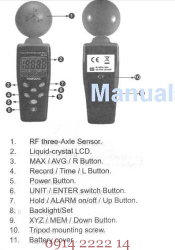 Cách sử dụng máy đo điện trường từ trường