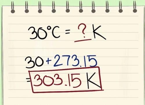 Chuyển từ độ Celcius sang độ Kelvin
