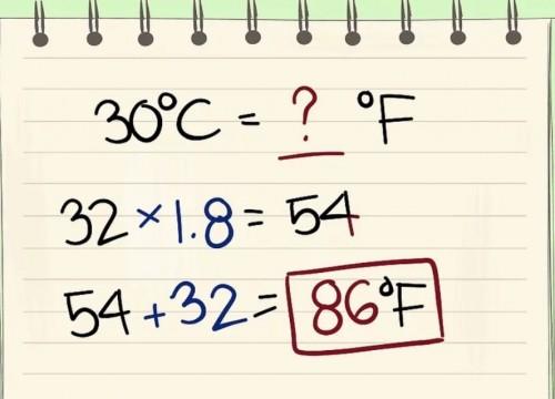 Chuyển đổi từ độ C sang độ F